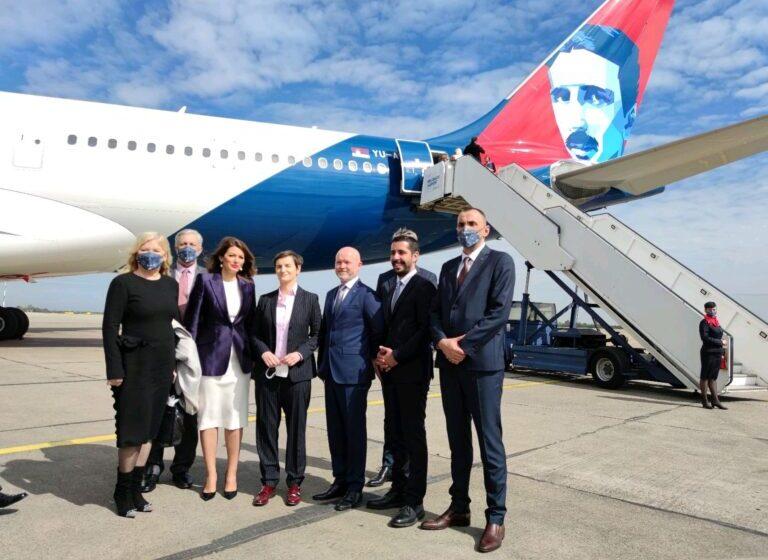 """Novi avion Air Serbia """"Nikola Tesla"""" spreman je za prvi let za Njujork"""